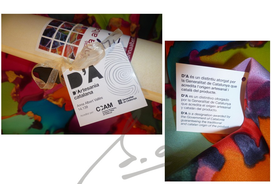 Lámpada de seda personalitzada
